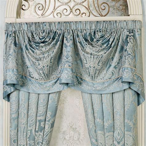 Empire Valance Regency Parisian Blue Empire Valance Window Treatment