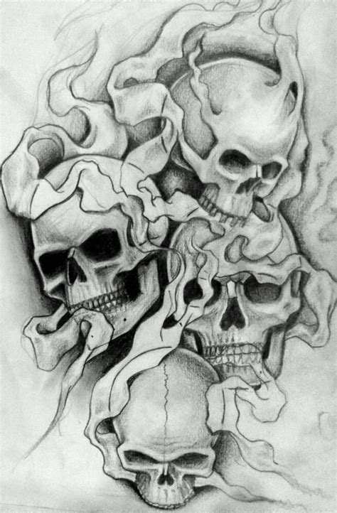 skull and smoke sleeve tattoo designs new school sleeve design big thanx to willemxsm for