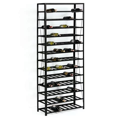 etagere 45 cm wine rack system black series 2 made of black metal