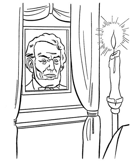 printable coloring pages of abraham lincoln usa printables president abraham lincoln memorial candle