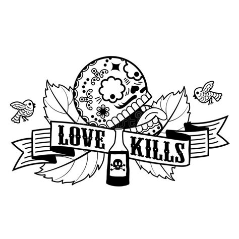 images of love kills stiker love kills stock illustration image of love icon