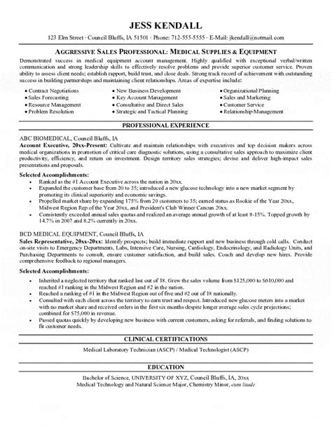 medical device sales resume best resume gallery