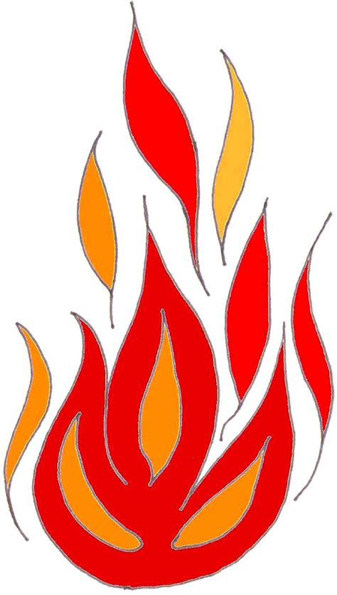 pentecost clipart flames clipart pentecost pencil and in color flames