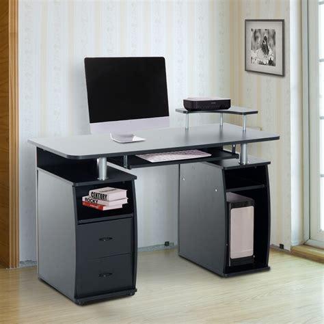 computertisch schwarz homcom computertisch schreibtisch b 252 rotisch mit