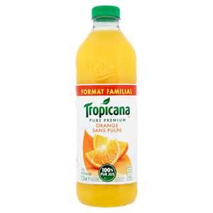 jus d orange sans pulpe tropicana tropicana la bouteille