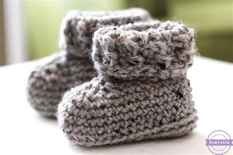 crochet pattern newborn booties the parker crochet baby booties sewrella