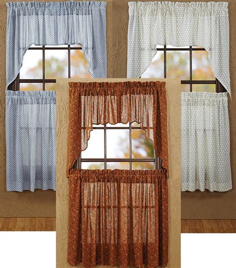 Window Topper Styles Tobacco Cloth Swag Window Topper