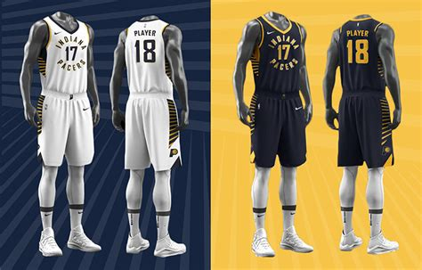 jersey design indiana pacers pacers unveil new look for 2017 18 season indiana pacers