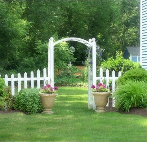 beautiful wooden arches creating romantic garden design