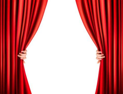 red curtain vector red curtain background with hand vectors vector