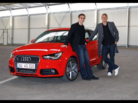Bastian Schweinsteiger Auto by 2010 Audi A1 Bayern Football Players Philipp Lahm And