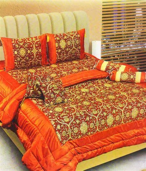 orange floral comforter dekor world orange floral polyester bedding set 8 pcs