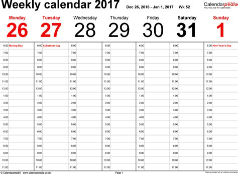 2017 monthly calendar template 18 free printable templates
