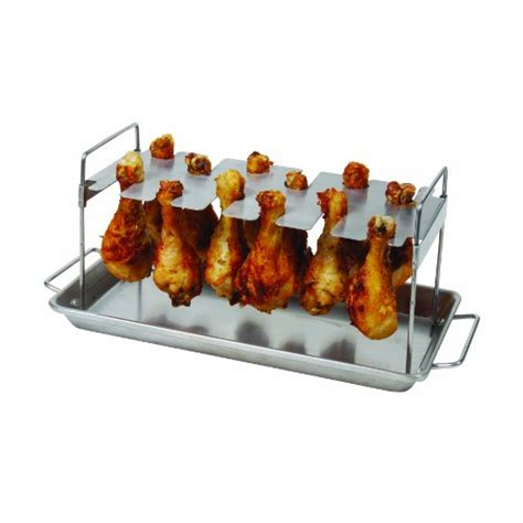 Rack Of Cooking by Bbq Grill Chicken Leg Wing Rack 12 Slot Outdoor Cooking