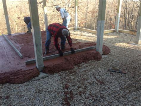 pouring a 12x20 concrete slab for a garage concrete