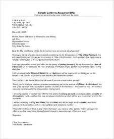 Offer Letter Reply Format Sle Offer Acceptance Letter 8 Exles In Word Pdf