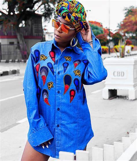 ankara combination styles pants inspired how to style your denim and ankara photos