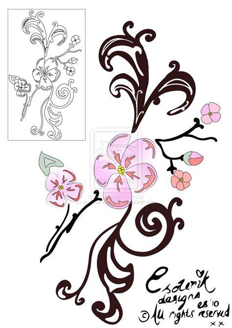 tattoo filigree designs cherry blossom filigree by esoterik designs on