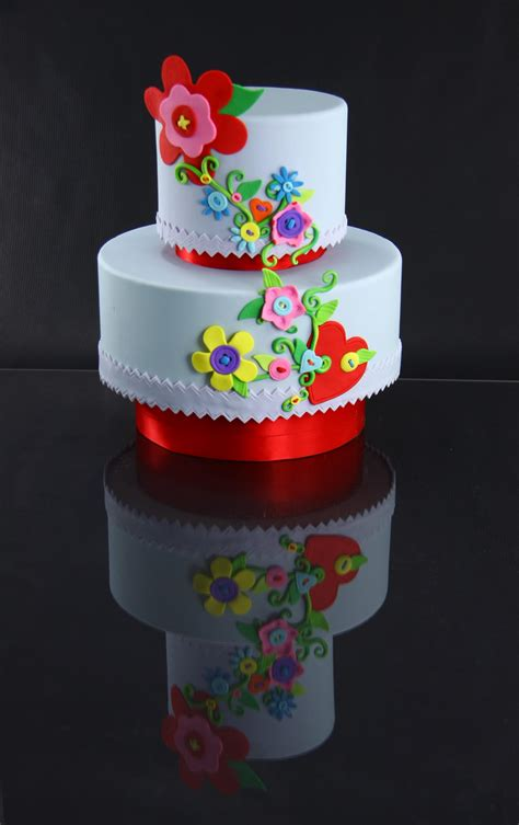 Dummy Cake button flower cake light boxes kalli cakes confections