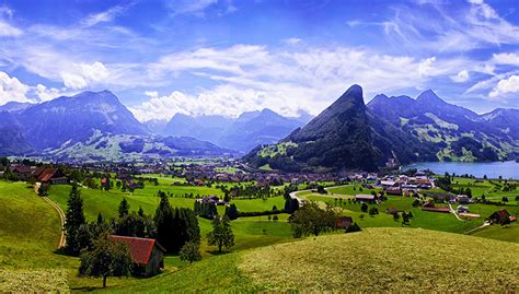 Landscape Photography Switzerland Image Switzerland Kanton Schwyz Mountains Sky Landscape