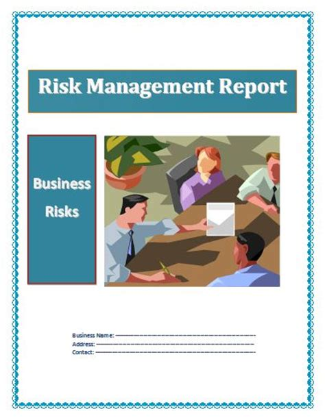 Business Reports Free Reports Risk Management Report Template
