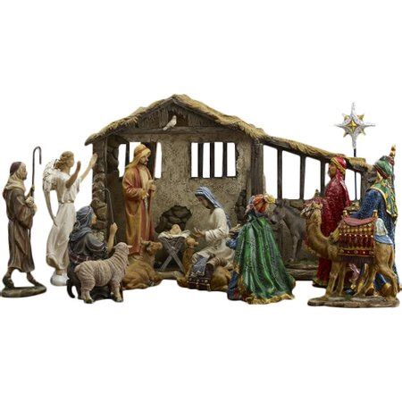 christmas stable walmart of 19 real nativity walmart