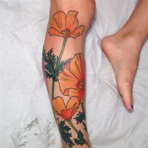 california poppy tattoo designs poppy california poppy ideas