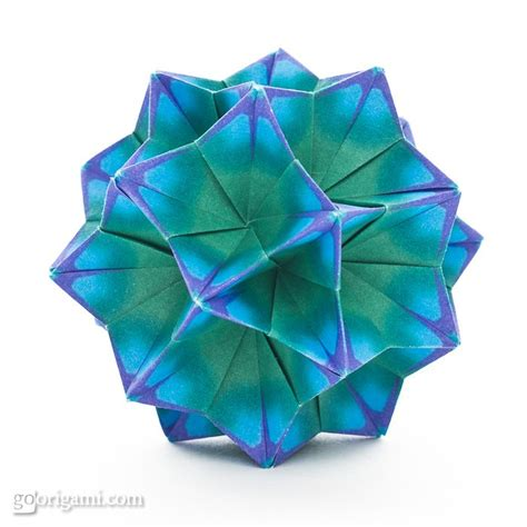 Unit Origami - bellflower kusudama by tomoko fuse go origami