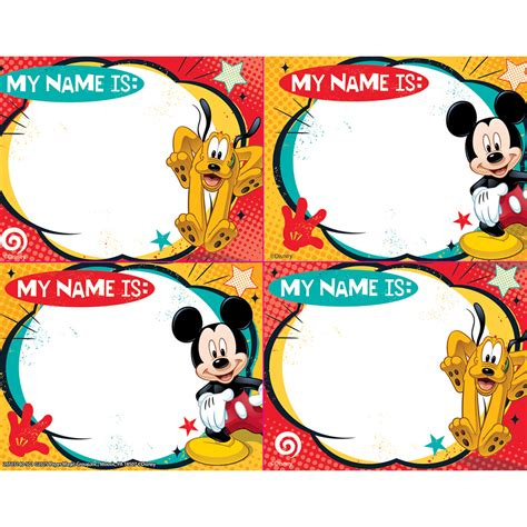 Stiker Label Nama Mickey Mouse mickey mouse name tags www pixshark images