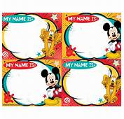 Mickey Mouse Name Tags  Wwwpixsharkcom Images