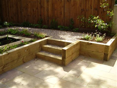 low maintenance garden design with split level tim mackley split level low maintenance garden scheme with natural