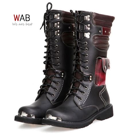 mens motorcycle style boots motorcycle boots men military shoes men fashion vintage