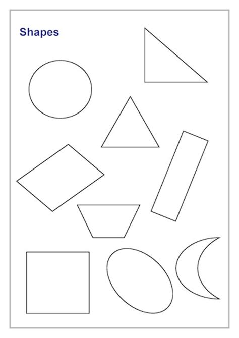 templates of shapes shapes lines template timesavers templates resources