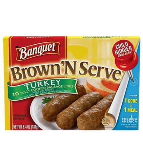 Brown 'N Serve Turkey Sausage Links   Banquet