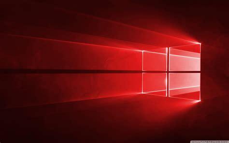 wallpaper windows 10 red windows 10 red in 4k 4k hd desktop wallpaper for wide