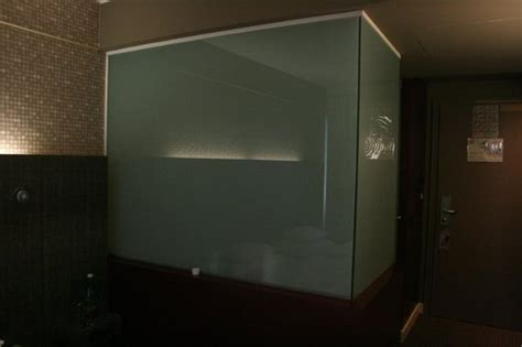 frosted glass for bathroom frosted glass wall around the bathroom seen from room