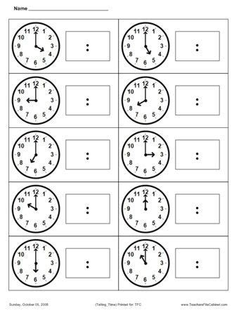 printable time math sheets teaching math and printables on pinterest