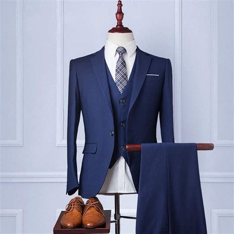 custom wedding suit handmade mens suit wool blend 3piece