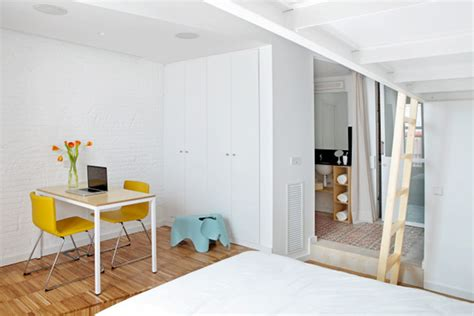 700 sq ft apartment how two live and work in this tiny 700 sq ft
