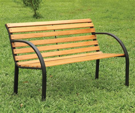 outdoor park benches dumas natural oak finish outdoor park bench
