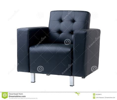 blue leather armchair royalty free stock photo image