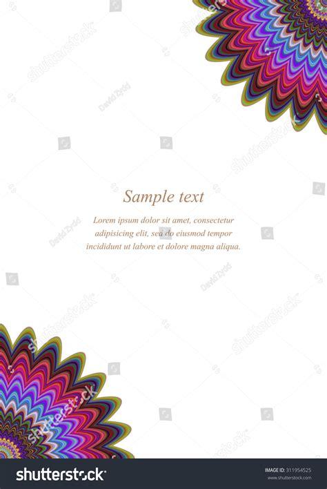 Invitation Letter Greeting color page corner design template invitation stock vector