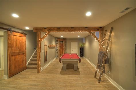 rustic finished basement contemporary rustic finished basement with reclaimed barn