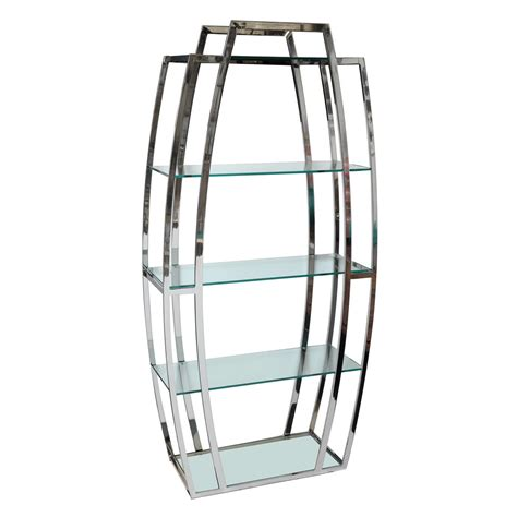 chrome shelving unit at 1stdibs