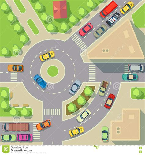 best view maps city map with top view cars and houses vector illustration