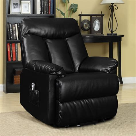 Black Leather Power Recliner by Electric Lift Chair Recliner Black Leather Power Motion
