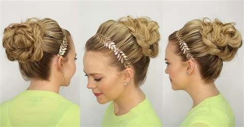 video hair style braided bun updo missy sue youtube