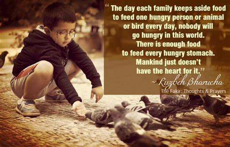 when the feeds family book 1 the day each family keeps aside food to feed one h