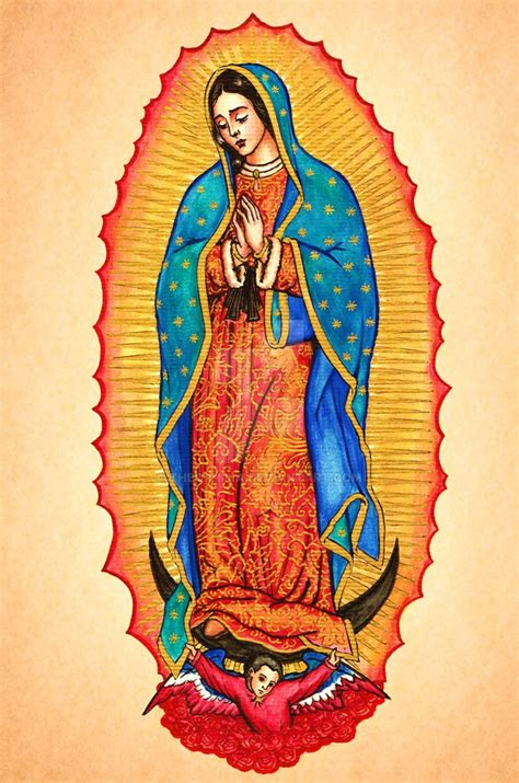 the virgin of guadalupe by theophilia on deviantart