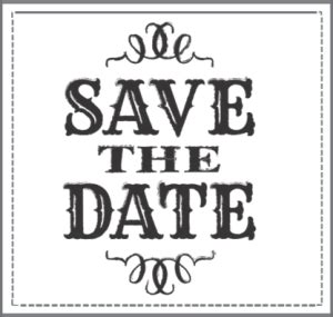 Free Save The Date Clipart Pictures Clipartix Black And White Save The Date Templates